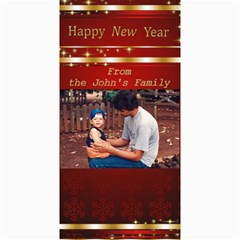 Happy New Year 4x8 Photo Card 3 By Deborah   4  X 8  Photo Cards   57p7p77w4glf   Www Artscow Com 8 x4 Photo Card - 2