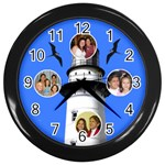 family light house clock - Wall Clock (Black)