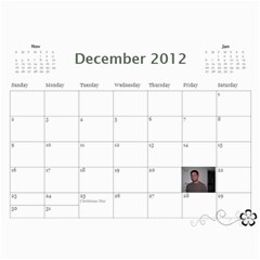 Teri Christmas By Brady   Wall Calendar 11  X 8 5  (12 Months)   Yvqjoiv0qd8e   Www Artscow Com Dec 2012