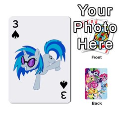 My Little Pony Friendship Is Magic Playing Card Deck By K Kaze   Playing Cards 54 Designs   D0bu8tndii26   Www Artscow Com Front - Spade3