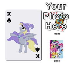 King My Little Pony Friendship Is Magic Playing Card Deck By K Kaze   Playing Cards 54 Designs   D0bu8tndii26   Www Artscow Com Front - SpadeK
