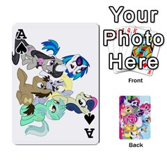 Ace My Little Pony Friendship Is Magic Playing Card Deck By K Kaze   Playing Cards 54 Designs   D0bu8tndii26   Www Artscow Com Front - SpadeA
