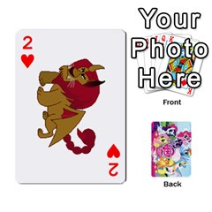 My Little Pony Friendship Is Magic Playing Card Deck By K Kaze   Playing Cards 54 Designs   D0bu8tndii26   Www Artscow Com Front - Heart2