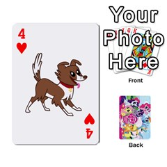 My Little Pony Friendship Is Magic Playing Card Deck By K Kaze   Playing Cards 54 Designs   D0bu8tndii26   Www Artscow Com Front - Heart4