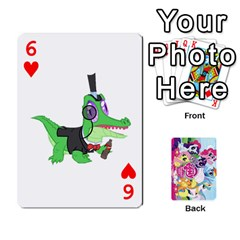 My Little Pony Friendship Is Magic Playing Card Deck By K Kaze   Playing Cards 54 Designs   D0bu8tndii26   Www Artscow Com Front - Heart6