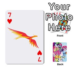 My Little Pony Friendship Is Magic Playing Card Deck By K Kaze   Playing Cards 54 Designs   D0bu8tndii26   Www Artscow Com Front - Heart7