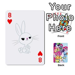 My Little Pony Friendship Is Magic Playing Card Deck By K Kaze   Playing Cards 54 Designs   D0bu8tndii26   Www Artscow Com Front - Heart8