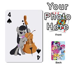 My Little Pony Friendship Is Magic Playing Card Deck By K Kaze   Playing Cards 54 Designs   D0bu8tndii26   Www Artscow Com Front - Spade4