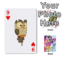 My Little Pony Friendship Is Magic Playing Card Deck By K Kaze   Playing Cards 54 Designs   D0bu8tndii26   Www Artscow Com Front - Heart9