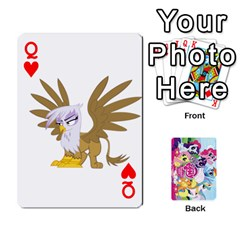 Queen My Little Pony Friendship Is Magic Playing Card Deck By K Kaze   Playing Cards 54 Designs   D0bu8tndii26   Www Artscow Com Front - HeartQ