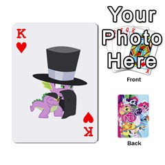 King My Little Pony Friendship Is Magic Playing Card Deck By K Kaze   Playing Cards 54 Designs   D0bu8tndii26   Www Artscow Com Front - HeartK