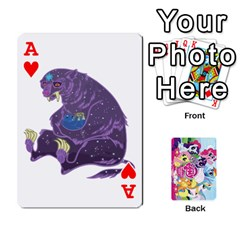 Ace My Little Pony Friendship Is Magic Playing Card Deck By K Kaze   Playing Cards 54 Designs   D0bu8tndii26   Www Artscow Com Front - HeartA