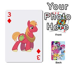 My Little Pony Friendship Is Magic Playing Card Deck By K Kaze   Playing Cards 54 Designs   D0bu8tndii26   Www Artscow Com Front - Diamond3
