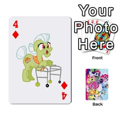 My Little Pony Friendship Is Magic Playing Card Deck By K Kaze   Playing Cards 54 Designs   D0bu8tndii26   Www Artscow Com Front - Diamond4