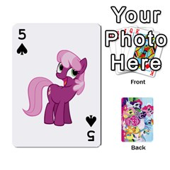 My Little Pony Friendship Is Magic Playing Card Deck By K Kaze   Playing Cards 54 Designs   D0bu8tndii26   Www Artscow Com Front - Spade5