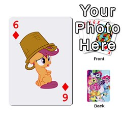 My Little Pony Friendship Is Magic Playing Card Deck By K Kaze   Playing Cards 54 Designs   D0bu8tndii26   Www Artscow Com Front - Diamond6