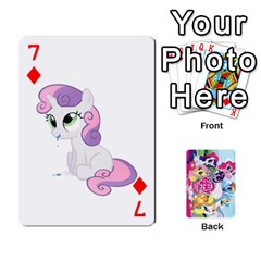 My Little Pony Friendship Is Magic Playing Card Deck By K Kaze   Playing Cards 54 Designs   D0bu8tndii26   Www Artscow Com Front - Diamond7
