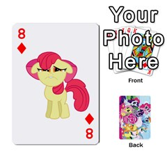 My Little Pony Friendship Is Magic Playing Card Deck By K Kaze   Playing Cards 54 Designs   D0bu8tndii26   Www Artscow Com Front - Diamond8