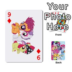 My Little Pony Friendship Is Magic Playing Card Deck By K Kaze   Playing Cards 54 Designs   D0bu8tndii26   Www Artscow Com Front - Diamond9