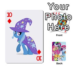 My Little Pony Friendship Is Magic Playing Card Deck By K Kaze   Playing Cards 54 Designs   D0bu8tndii26   Www Artscow Com Front - Diamond10