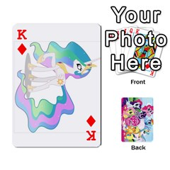 King My Little Pony Friendship Is Magic Playing Card Deck By K Kaze   Playing Cards 54 Designs   D0bu8tndii26   Www Artscow Com Front - DiamondK