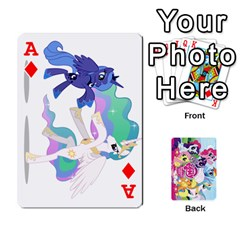 Ace My Little Pony Friendship Is Magic Playing Card Deck By K Kaze   Playing Cards 54 Designs   D0bu8tndii26   Www Artscow Com Front - DiamondA
