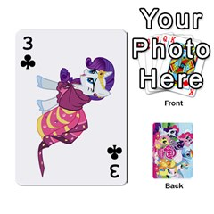 My Little Pony Friendship Is Magic Playing Card Deck By K Kaze   Playing Cards 54 Designs   D0bu8tndii26   Www Artscow Com Front - Club3
