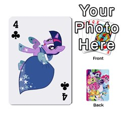 My Little Pony Friendship Is Magic Playing Card Deck By K Kaze   Playing Cards 54 Designs   D0bu8tndii26   Www Artscow Com Front - Club4