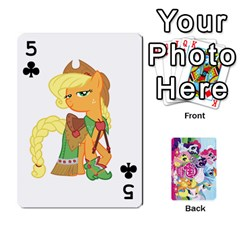 My Little Pony Friendship Is Magic Playing Card Deck By K Kaze   Playing Cards 54 Designs   D0bu8tndii26   Www Artscow Com Front - Club5