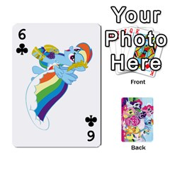 My Little Pony Friendship Is Magic Playing Card Deck By K Kaze   Playing Cards 54 Designs   D0bu8tndii26   Www Artscow Com Front - Club6
