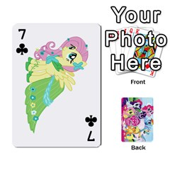 My Little Pony Friendship Is Magic Playing Card Deck By K Kaze   Playing Cards 54 Designs   D0bu8tndii26   Www Artscow Com Front - Club7
