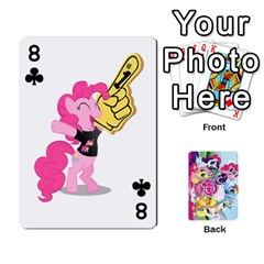 My Little Pony Friendship Is Magic Playing Card Deck By K Kaze   Playing Cards 54 Designs   D0bu8tndii26   Www Artscow Com Front - Club8