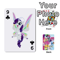 My Little Pony Friendship Is Magic Playing Card Deck By K Kaze   Playing Cards 54 Designs   D0bu8tndii26   Www Artscow Com Front - Club9