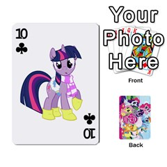 My Little Pony Friendship Is Magic Playing Card Deck By K Kaze   Playing Cards 54 Designs   D0bu8tndii26   Www Artscow Com Front - Club10