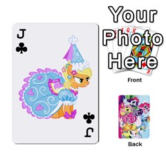 Jack My Little Pony Friendship Is Magic Playing Card Deck By K Kaze   Playing Cards 54 Designs   D0bu8tndii26   Www Artscow Com Front - ClubJ