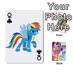 Queen My Little Pony Friendship Is Magic Playing Card Deck By K Kaze   Playing Cards 54 Designs   D0bu8tndii26   Www Artscow Com Front - ClubQ