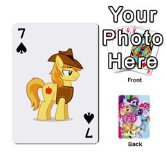 My Little Pony Friendship Is Magic Playing Card Deck By K Kaze   Playing Cards 54 Designs   D0bu8tndii26   Www Artscow Com Front - Spade7
