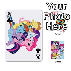 Ace My Little Pony Friendship Is Magic Playing Card Deck By K Kaze   Playing Cards 54 Designs   D0bu8tndii26   Www Artscow Com Front - ClubA