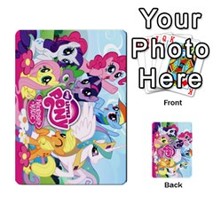 My Little Pony Friendship Is Magic Playing Card Deck By K Kaze   Playing Cards 54 Designs   D0bu8tndii26   Www Artscow Com Back