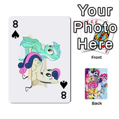 My Little Pony Friendship Is Magic Playing Card Deck By K Kaze   Playing Cards 54 Designs   D0bu8tndii26   Www Artscow Com Front - Spade8