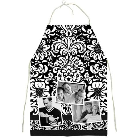 Black & White Apron Full Print By Mikki   Full Print Apron   52xchb1rjlba   Www Artscow Com Front