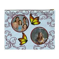 Family Cosmetic Bag By Kim Blair   Cosmetic Bag (xl)   Nbjvay3p5ym8   Www Artscow Com Back