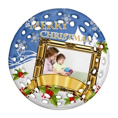 Christmas By Joely   Round Filigree Ornament (two Sides)   Vqnfxhz1gg7b   Www Artscow Com Back