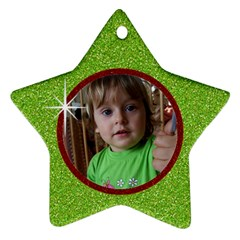 Red & Green Glitter Star Ornament 2 Sides By Mikki   Star Ornament (two Sides)   V4xz8qxxhlxd   Www Artscow Com Back
