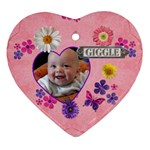 Giggle Heart Ornament - Ornament (Heart)