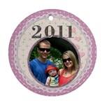 Pretty 2011 Round Ornament - Ornament (Round)