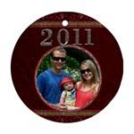 Red 2011 Round Ornament - Ornament (Round)