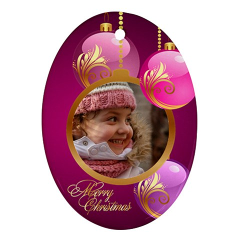 Christmas Oval Ornament 2 By Deborah   Ornament (oval)   2tkd772xcg27   Www Artscow Com Front