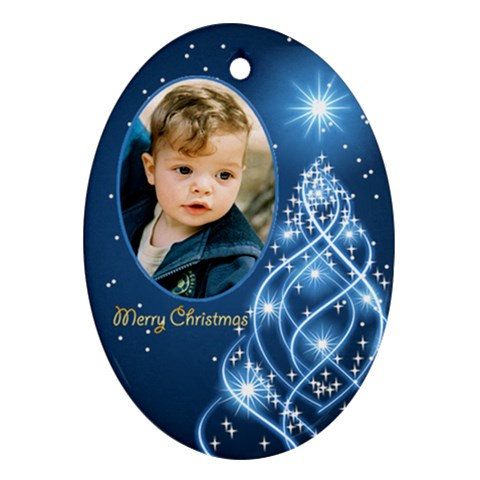 Christmas Oval Ornament 3 By Deborah   Ornament (oval)   Wp9sp1k2qcmx   Www Artscow Com Front