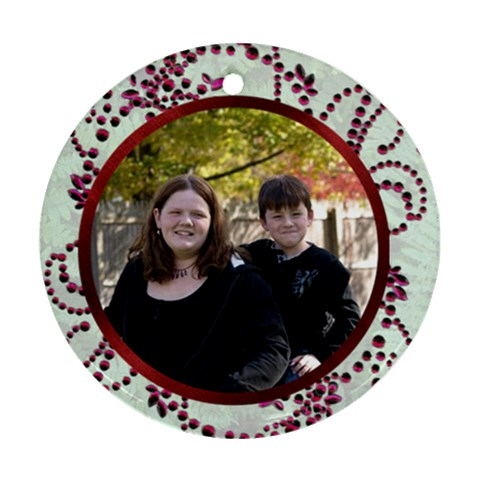 Siblings Ornament By Suzie   Ornament (round)   Yxmhchw30jp0   Www Artscow Com Front